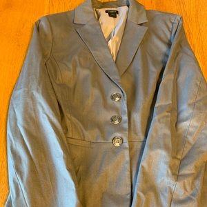 Ann Taylor gray blazer, lined, size 6